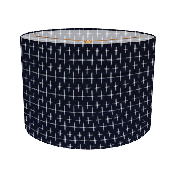 Karuso ikat lampshade in Night