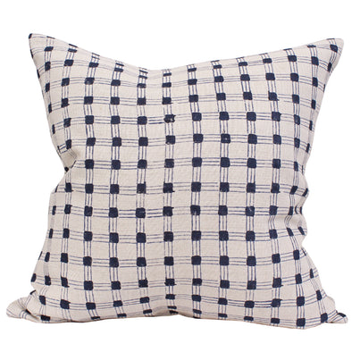 Navy and natural pillow by KUFRI