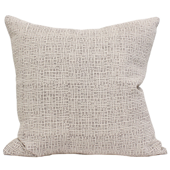 Jemez textile pillow in grey