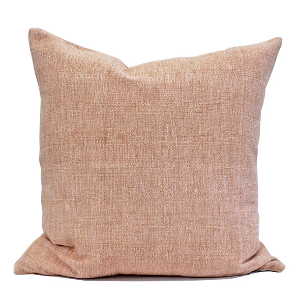 Raw Solids in Blush Pillow