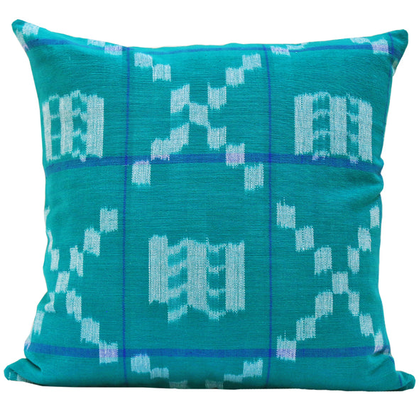 Takamaka in Teal & Blue Pillow