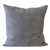 Raw Solids in Grey Pillow