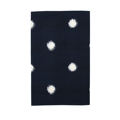 White Dots in Deep Navy Table Runner