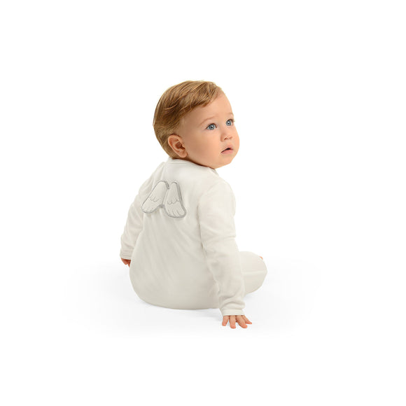 baby grow with angel wings