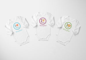 set of 12 month bodysuits