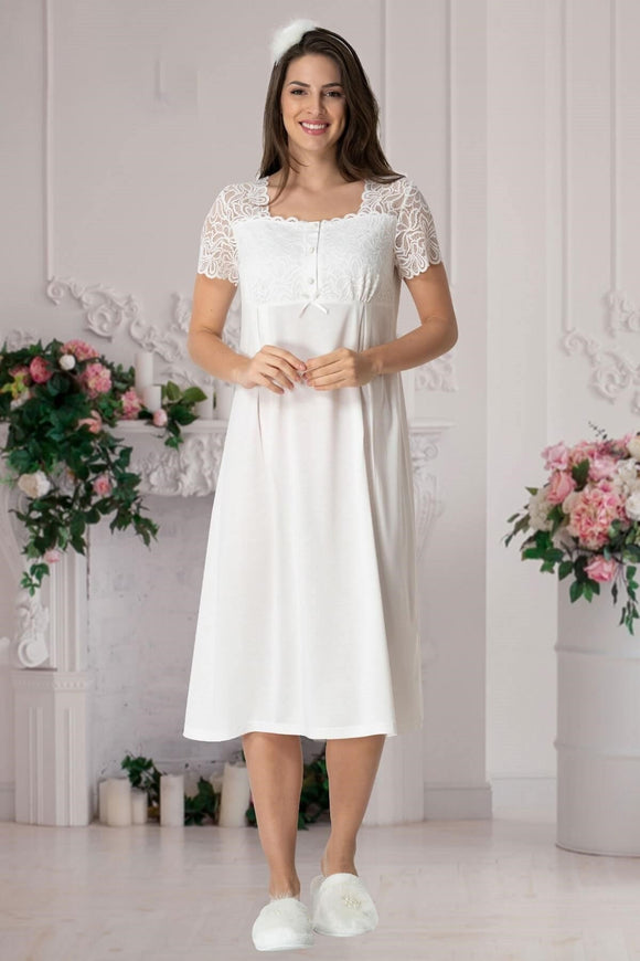 Lace Maternity & Nursing Nightdress