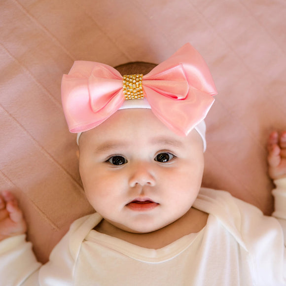 bling baby bow pink