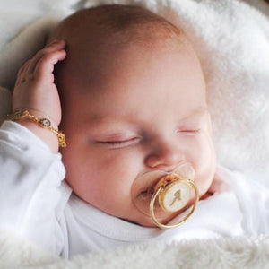 Personalized Gold Baby Pacifier - Clear