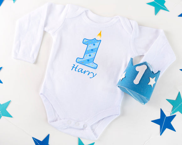 Personalised Baby Bodysuit - First Birthday