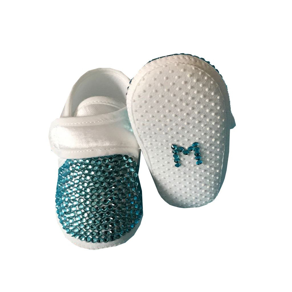 Blue Crystals Baby Boy Custom Shoes - miniplum