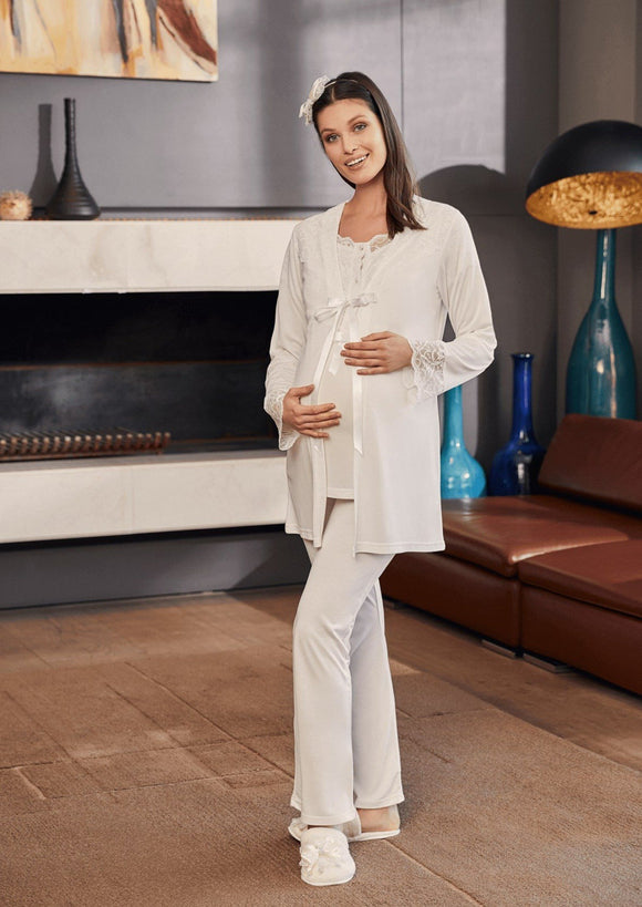 4 Piece Maternity& Nursing Pyjama Set