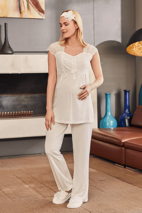 3 piece Maternity& Nursing Pyjama Set