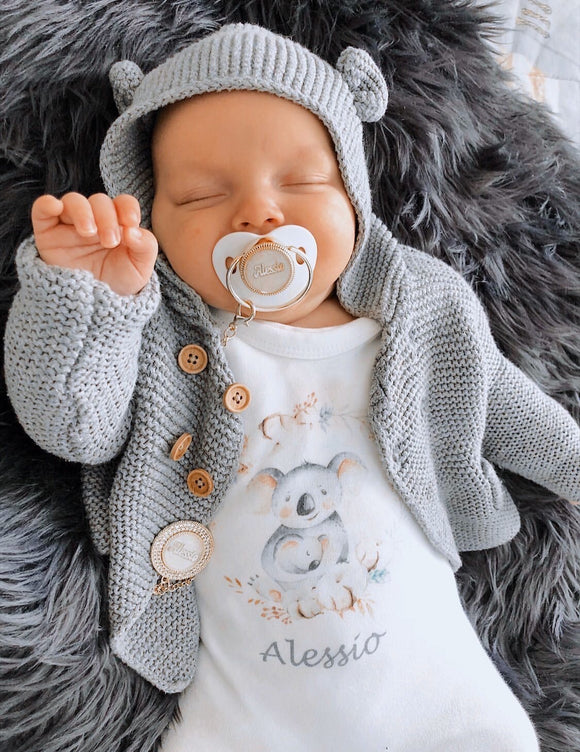 personalised onesie with koala print