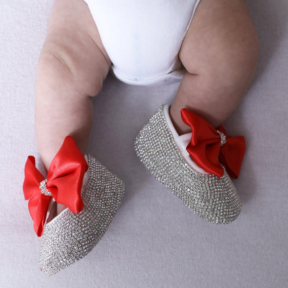 Red Pram Shoes and Headband