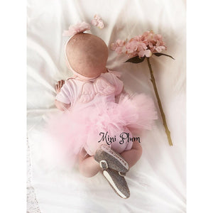 pink baby tutu and baby grow