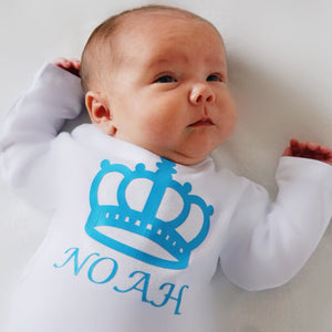 Personalised Baby Bodysuit-Crown - miniplum