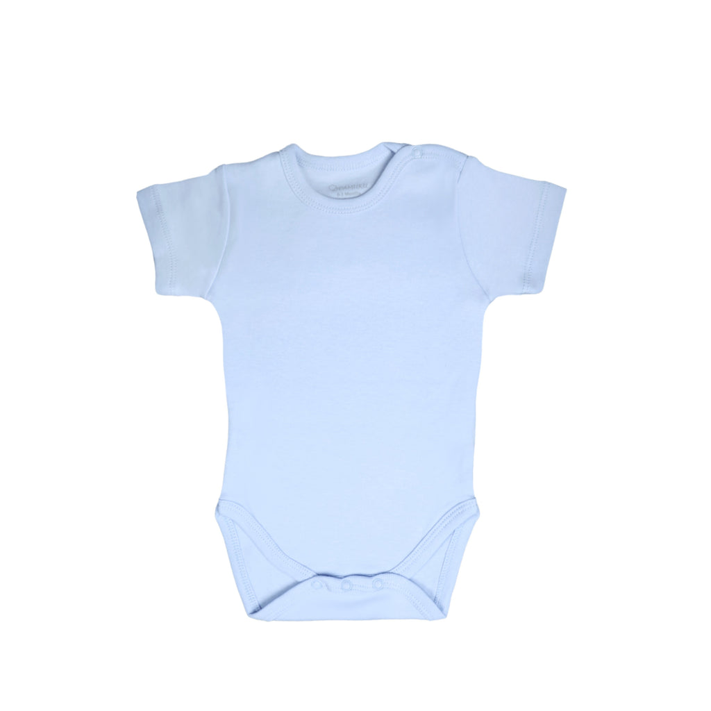 Blue Angel Wings Short Sleeve Bodysuit - miniplum