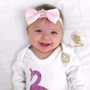 Baby Headband with a crown charm - miniplum