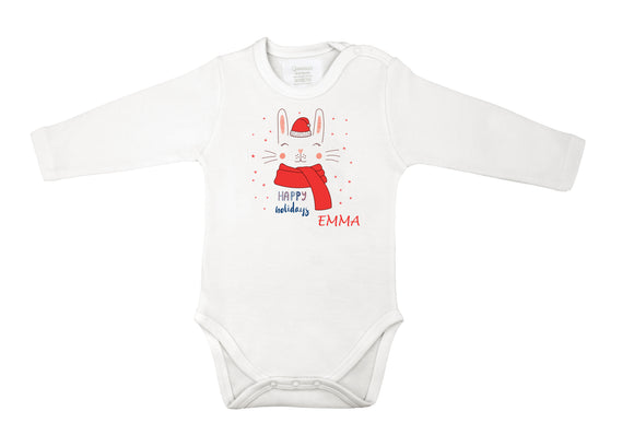 personalized Christmas baby grow