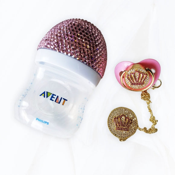 Pink Avent Glam Baby Bottle Gift Set