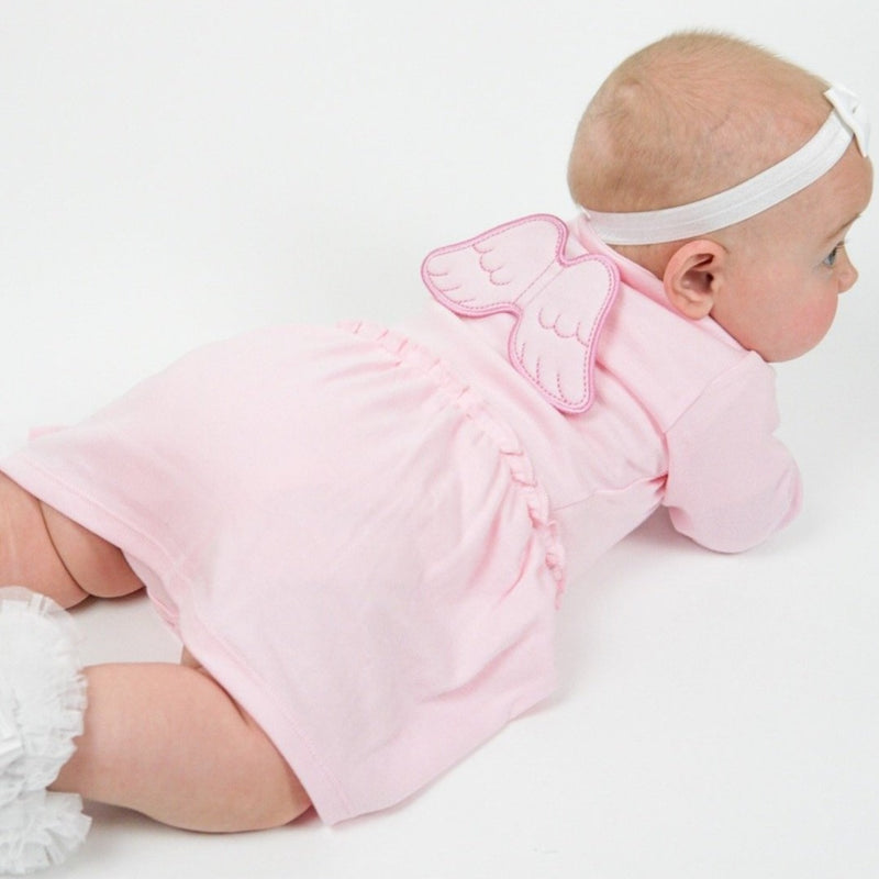 Pink Angel Wings Baby Dress - miniplum