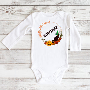 Happy Halloween Personalized Bodysuit