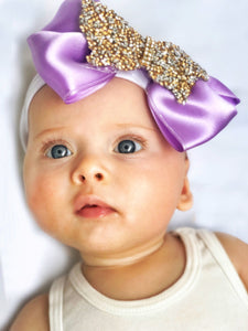 purple baby bow