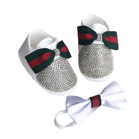 baby boy shoes and bow tie