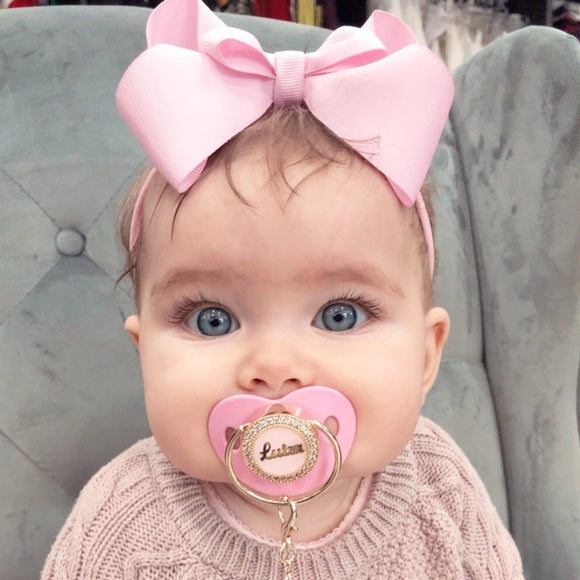 Personalized Glam Pacifier - Pink