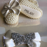 Pearls & Crystals Shoes and Headband