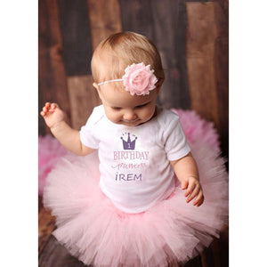 Birthday Princess 3 Piece Personalised First Birthday Outfit - miniplum