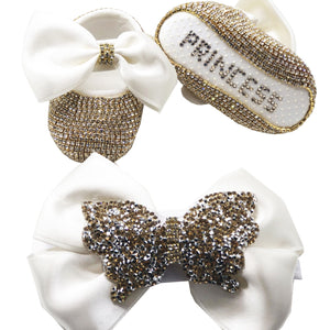 Sparkly Shoes and Hairband Gift Set in Various Colours - miniplum