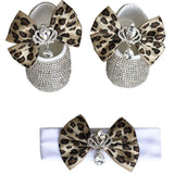 Leopard Baby Shoes and Hairband Set