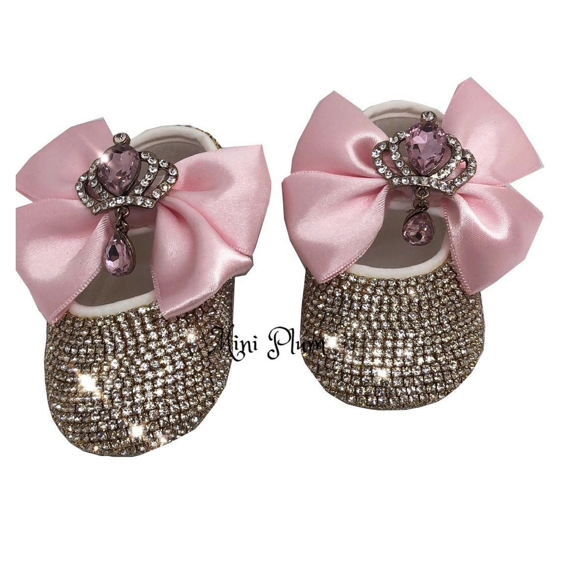 3c4f8a5f0cb78 Personalised Baby Girl Christening Gift Shoes in Pink