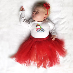 personalized Christmas baby outift for girls