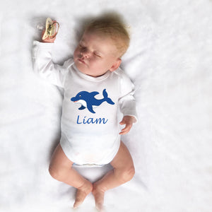 Personalised Baby Bodysuit - Shark