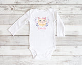 kitty baby grow - personalised baby gift