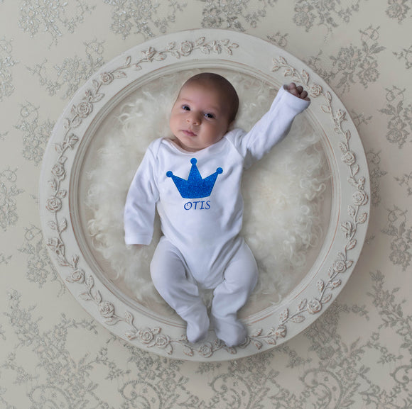 personalised baby boy comimg home outfit