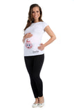 Personalised  Maternity Top -Baby Girl Mum to be - miniplum