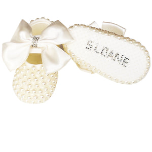 ivory christening shoes