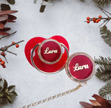 Personalized Glam Pacifier in Red