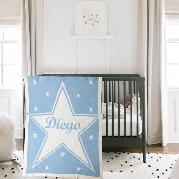 Personalized Knit Blanket - Big Star