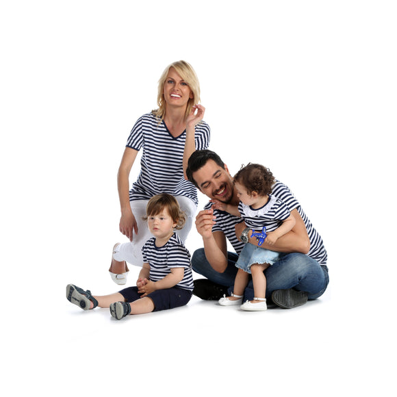 Mini Plum Matching Sibling's Striped Tshirt Set - miniplum