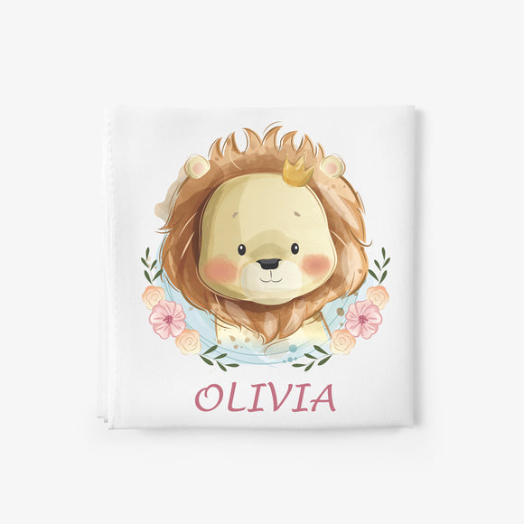 personalised baby blanket  lion
