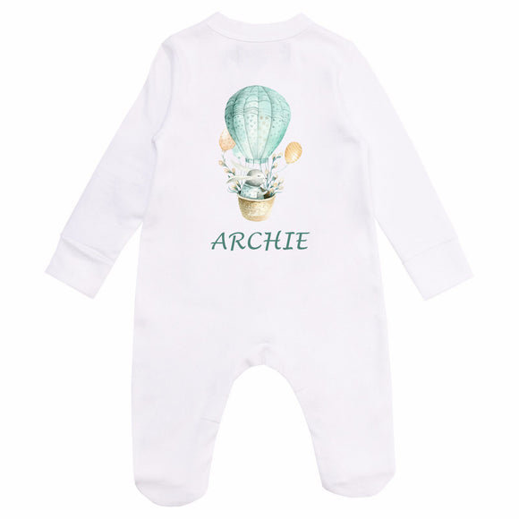 Personalised Baby Sleepsuit- Rabbit - miniplum