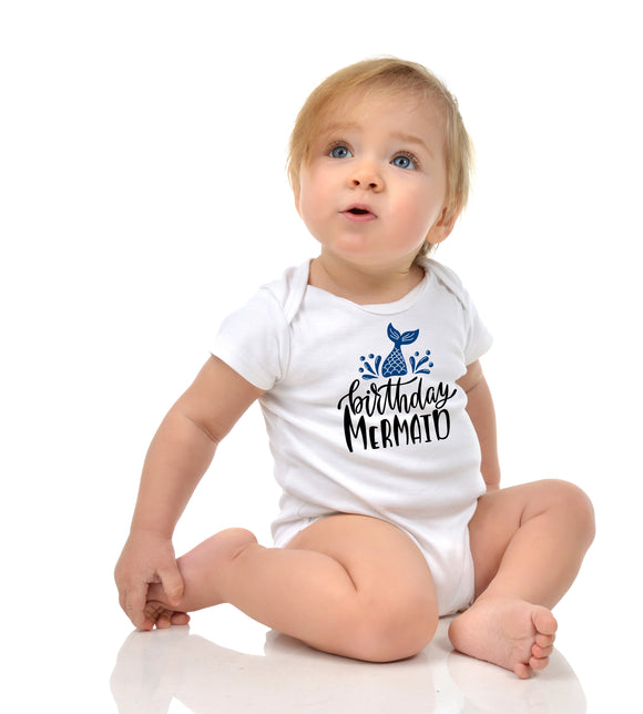 Personalised Baby Bodysuit - Birthday Mermaid