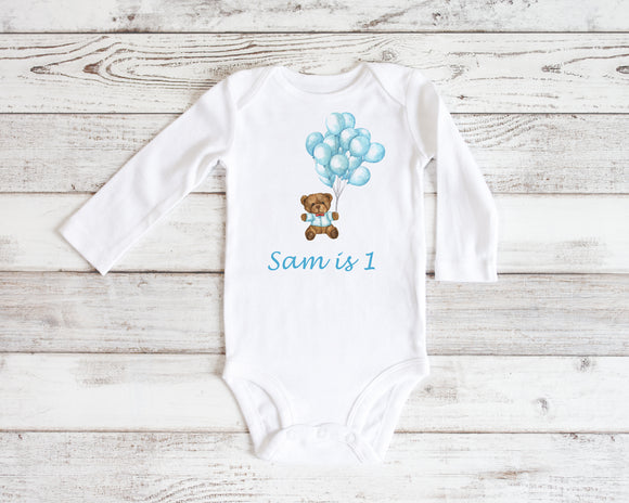 Personalised Baby Bodysuit - Balloons