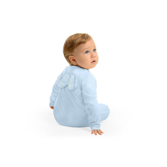 blue baby grow with angel wings