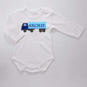 Personalised Baby Bodysuit - Big Truck - miniplum