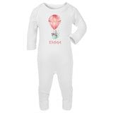 personalised pink baby girl clothes